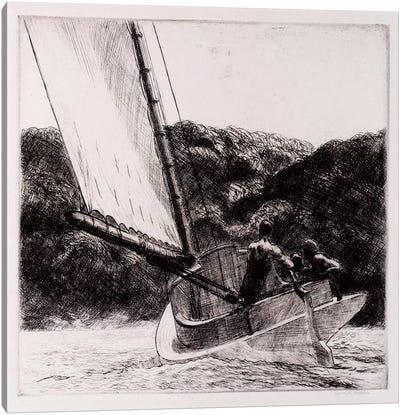 The Cat Boat Canvas Art Print