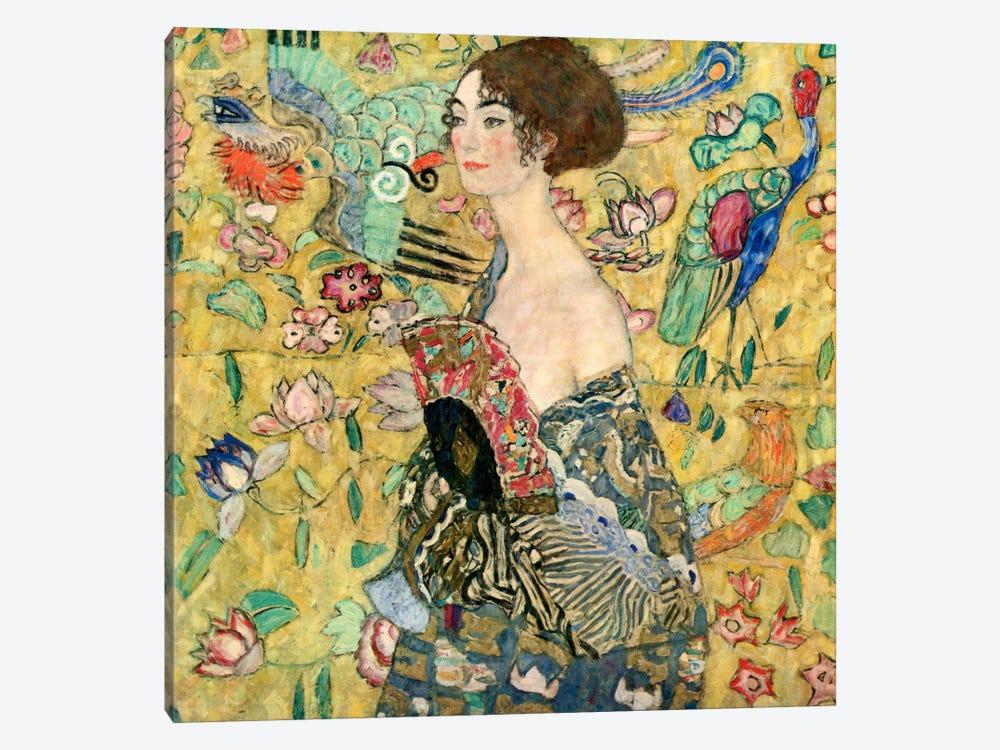 Lady with a Fan by Gustav Klimt 1-piece Art Print