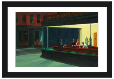 Nighthawks, 1942 Framed Art Print