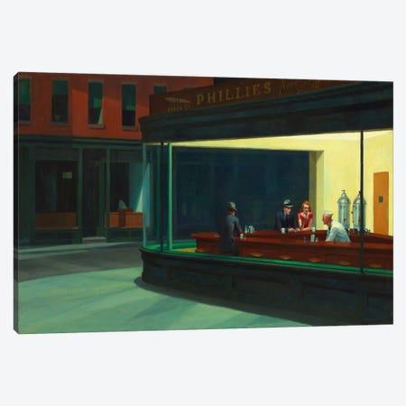 Nighthawks, 1942 Canvas Print #13378} by Edward Hopper Canvas Wall Art