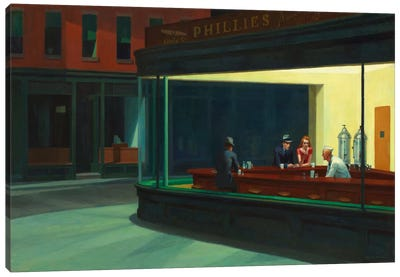 Nighthawks, 1942 Canvas Art Print