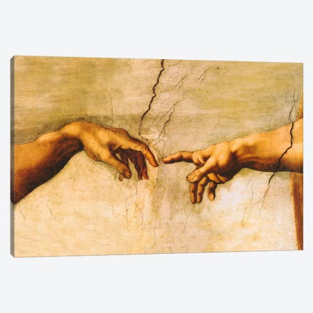 The Creation of Adam, C.1510 Canvas Print #1338} by Michelangelo Canvas Wall Art