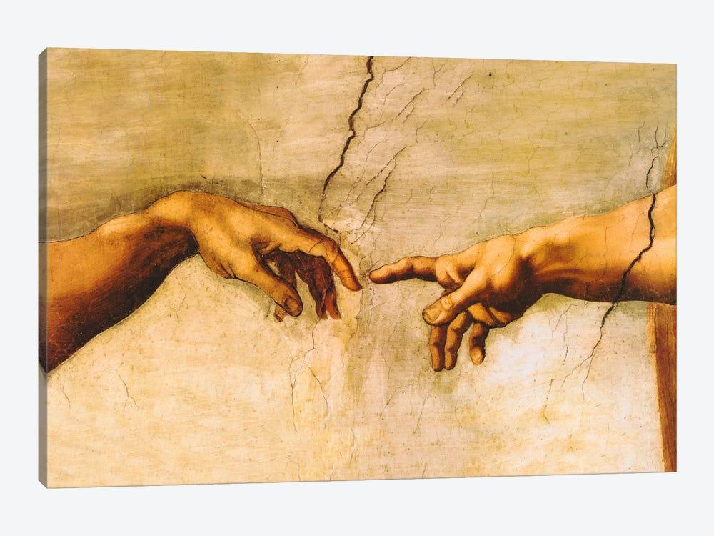 The Creation of Adam, C.1510 by Michelangelo 1-piece Canvas Art Print