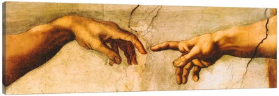 The Creation of Adam by Michelangelo Canvas Art Print