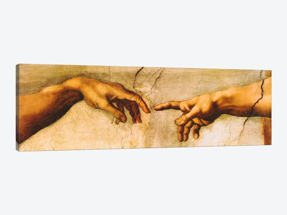 The Creation of Adam by Michelangelo 1-piece Canvas Art