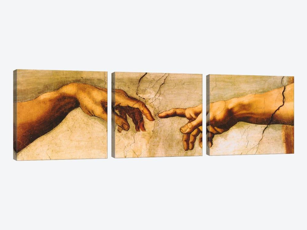 The Creation of Adam by Michelangelo 3-piece Canvas Artwork
