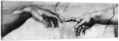 The Creation of Adam V by Michelangelo Canvas Art Print
