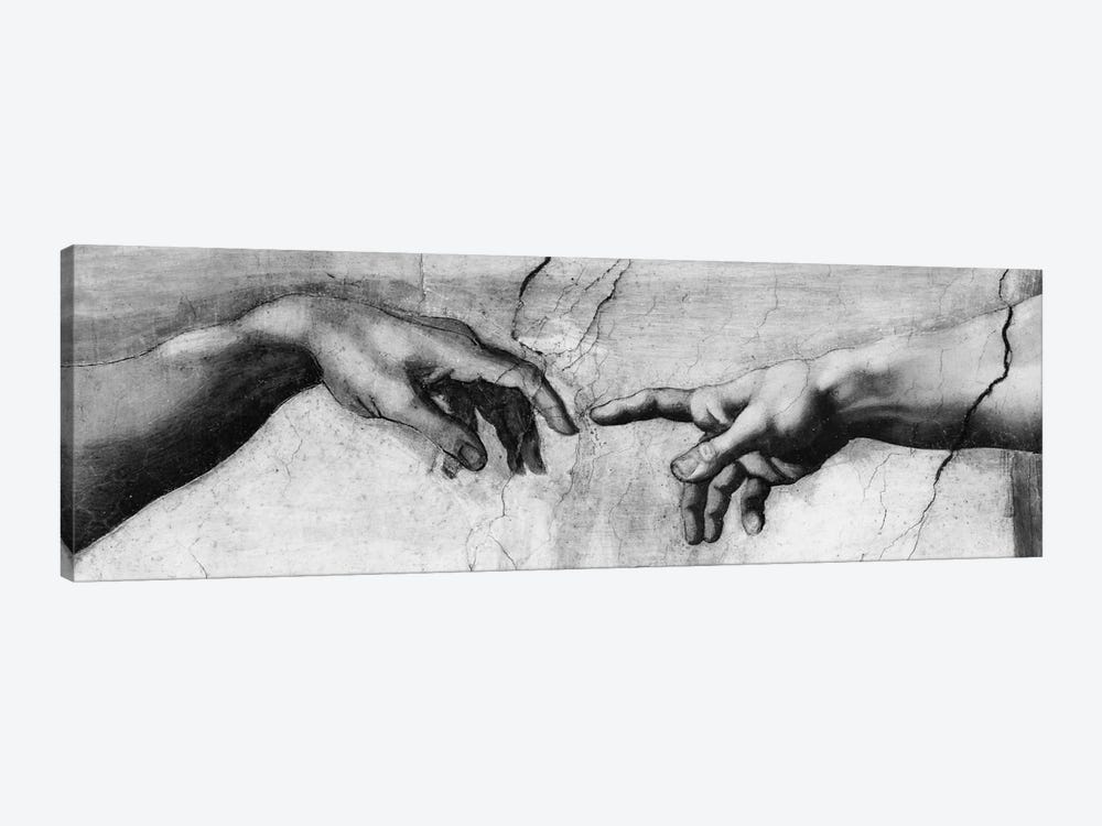 The Creation of Adam V by Michelangelo 1-piece Canvas Wall Art