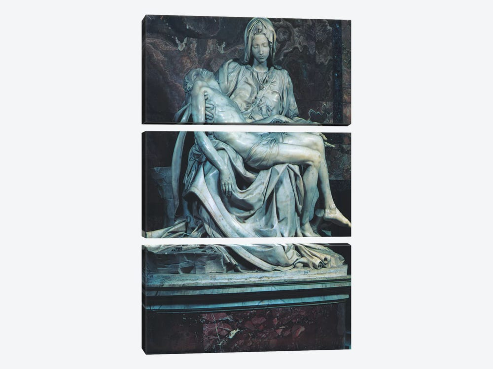 Pieta by Michelangelo 3-piece Canvas Art