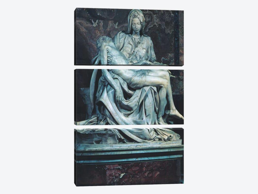 Pieta by Michelangelo 3-piece Canvas Art