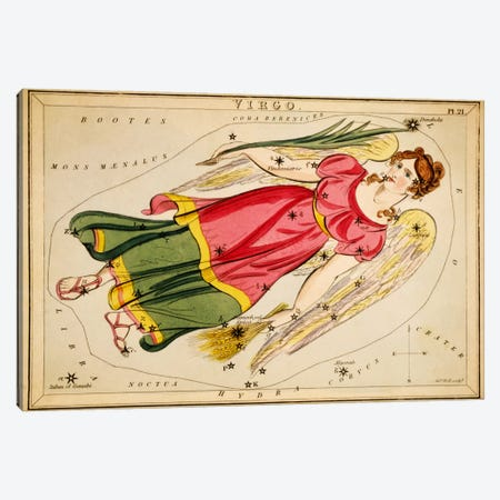 Virgo, 1825 Canvas Print #13416} by Sidney Hall Canvas Wall Art