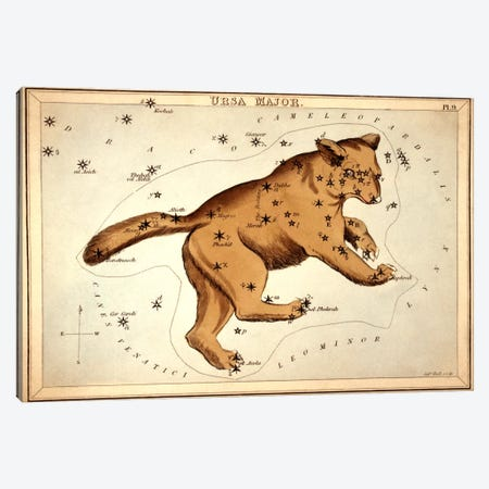 Ursa Major ll Canvas Print #13418} by Sidney Hall Art Print