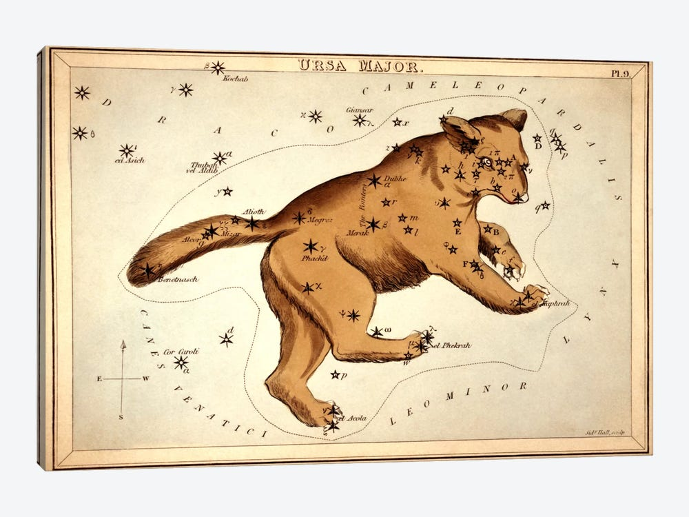 Ursa Major ll by Sidney Hall 1-piece Canvas Wall Art