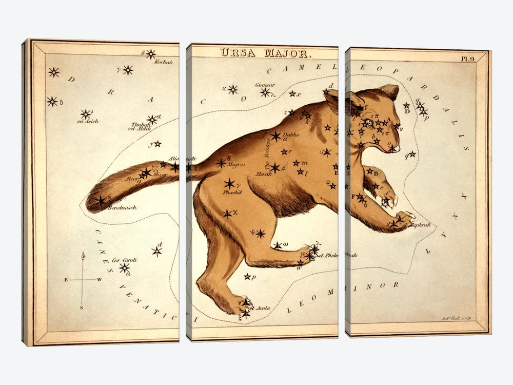 Ursa Major ll by Sidney Hall 3-piece Canvas Artwork