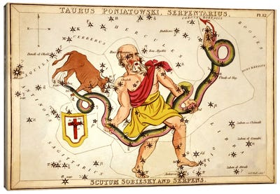 Ophiuchus, 1825 Canvas Art Print