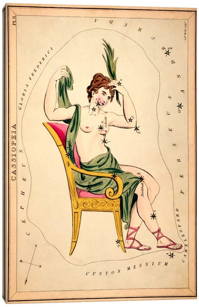 Cassiopeia, 1825 Canvas Art Print