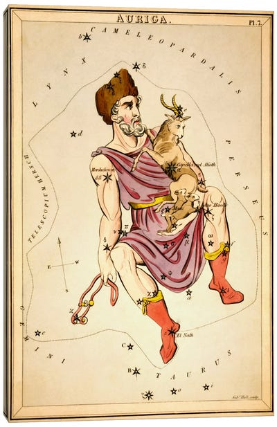 Auriga, 1825 Canvas Art Print