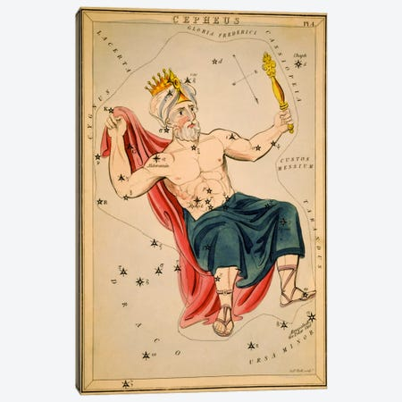 Cepheus Canvas Print #13424} by Sidney Hall Art Print