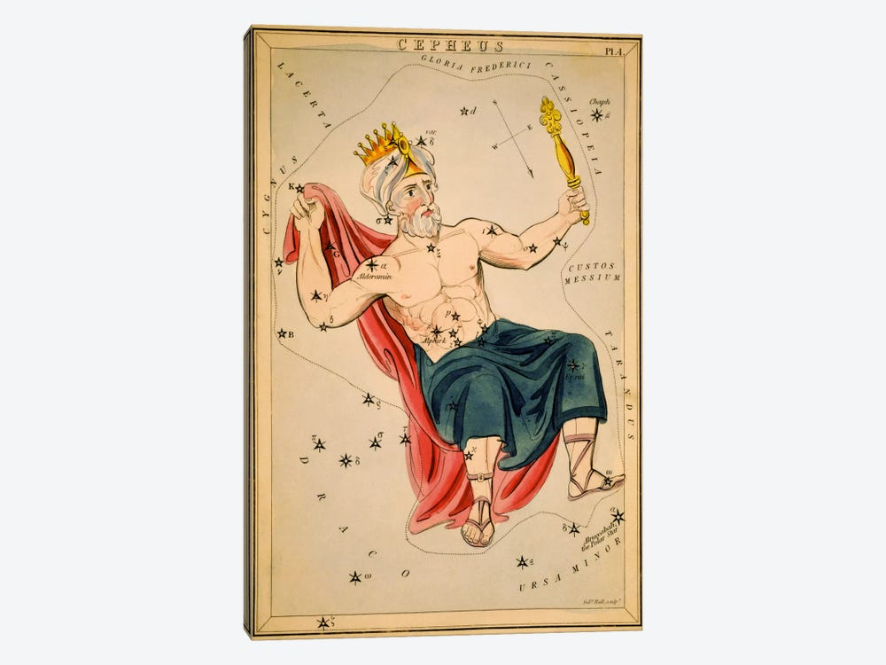 Cepheus by Sidney Hall 1-piece Canvas Art Print