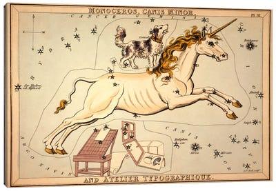 Monoceros, Canis Minor, and Atelier Typographique Canvas Art Print