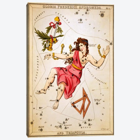 Gloria Frederici, Andromeda, and Triangula Canvas Print #13426} by Sidney Hall Canvas Print