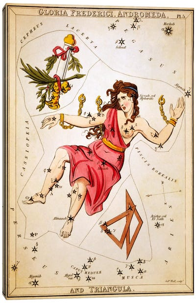 Gloria Frederici, Andromeda, and Triangula Canvas Art Print