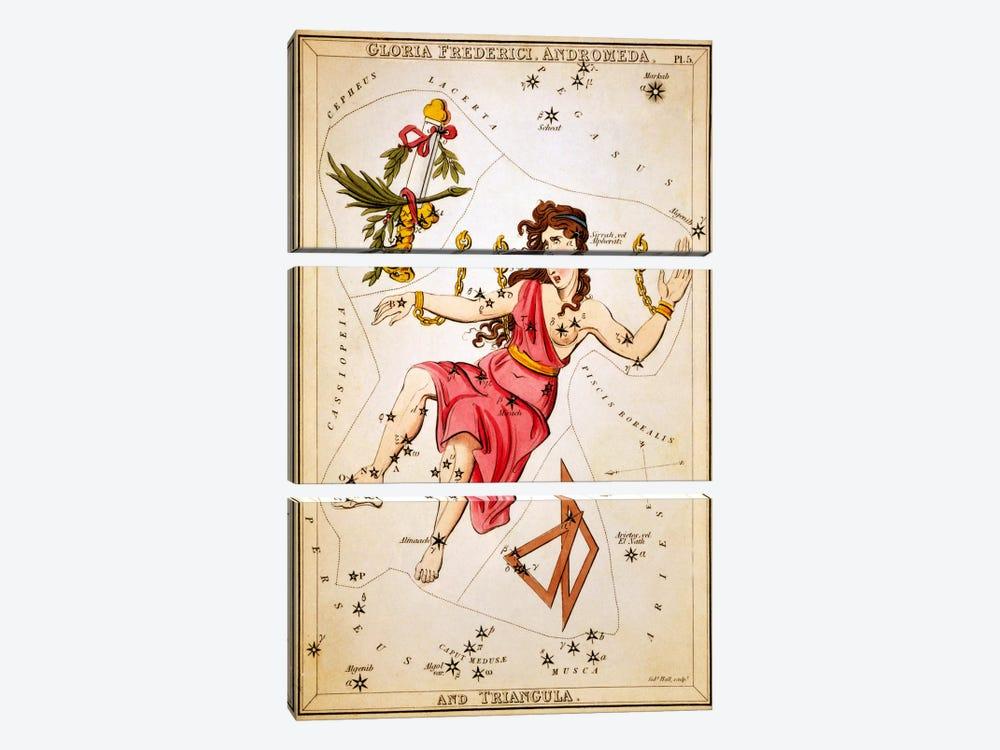 Gloria Frederici, Andromeda, and Triangula by Sidney Hall 3-piece Art Print
