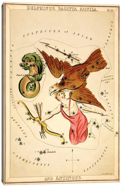 Delphinus, Sagitta, Aquila, and Antinous Canvas Art Print