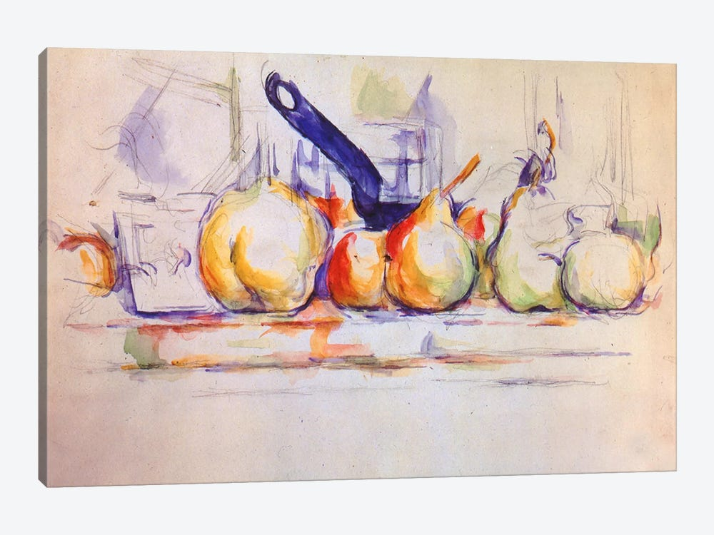 Still Life with Saucepan, 1902 by Paul Cezanne 1-piece Canvas Print