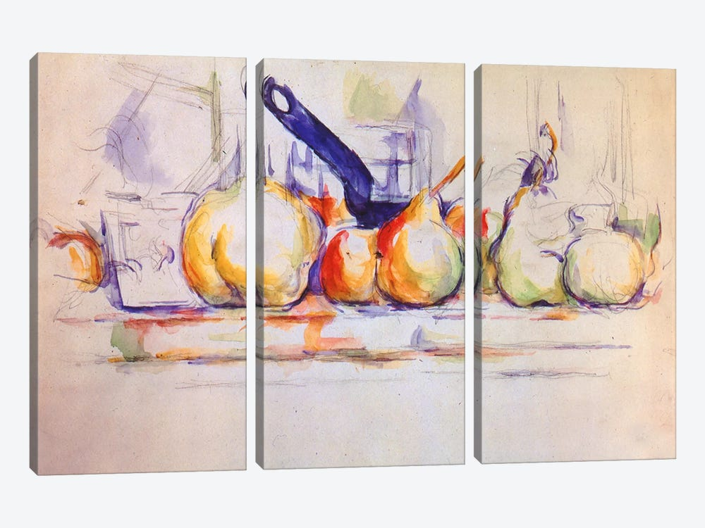 Still Life with Saucepan, 1902 by Paul Cezanne 3-piece Art Print