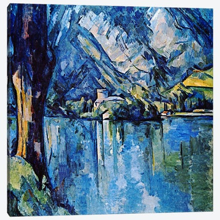 Le Lac Annecy Canvas Print #1347} by Paul Cezanne Canvas Art
