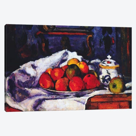 Still Life Bowl of Apples Canvas Print #1348} by Paul Cezanne Art Print