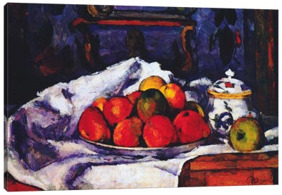 Still Life Bowl of Apples Canvas Print #1348