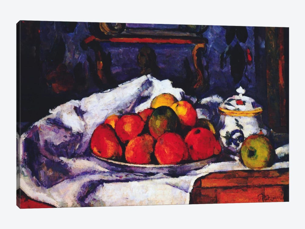 Still Life Bowl of Apples by Paul Cezanne 1-piece Canvas Artwork