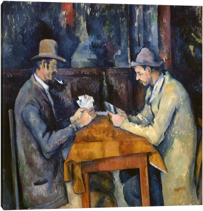 The Card Players, 1893-96 by Paul Cezanne Canvas Print