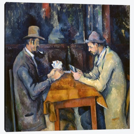 The Card Players, 1893-96 Canvas Print #1349} by Paul Cezanne Canvas Print