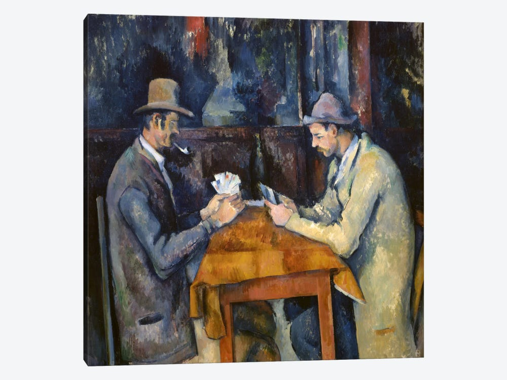 The Card Players, 1893-96 by Paul Cezanne 1-piece Art Print