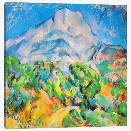 La Montagne St. Victoire Canvas Print #1350} by Paul Cezanne Canvas Artwork