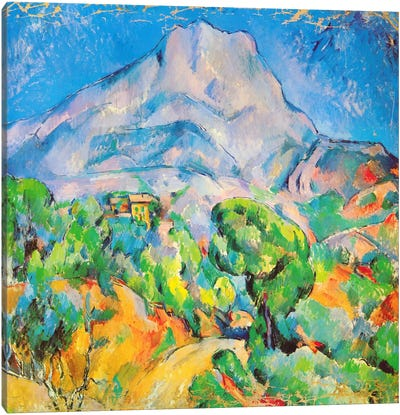 La Montagne St. Victoire by Paul Cezanne Canvas Artwork