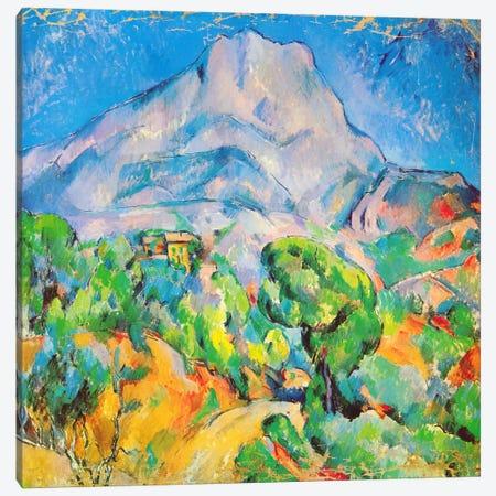 La Montagne St. Victoire Canvas Print #1350} by Paul Cezanne Canvas Artwork