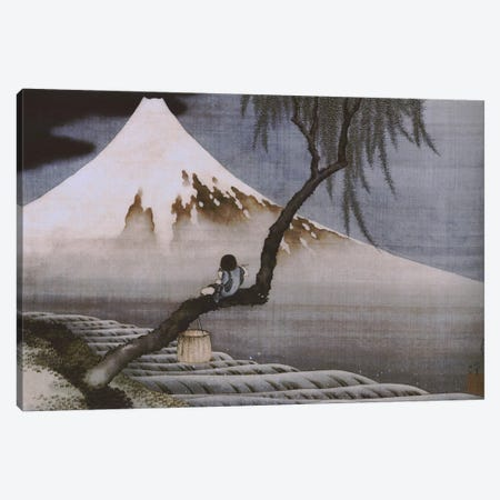 Boy on Mt Fuji Canvas Print #1351} by Katsushika Hokusai Canvas Wall Art