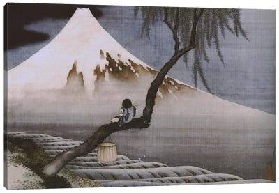 Boy on Mt Fuji by Katsushika Hokusai Canvas Wall Art
