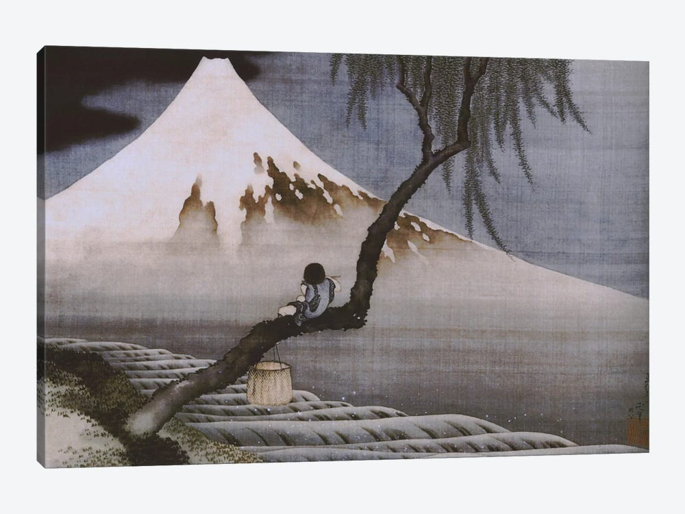 Boy on Mt Fuji by Katsushika Hokusai 1-piece Canvas Artwork