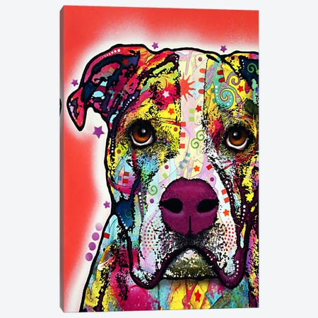 American Bulldog Canvas Print #13525} by Dean Russo Canvas Wall Art