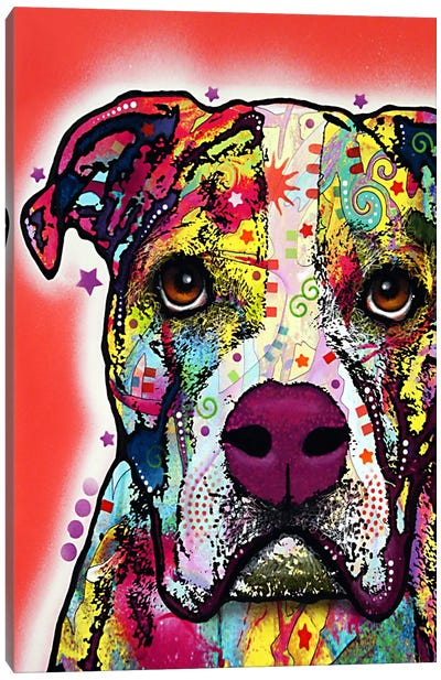 American Bulldog Canvas Art Print