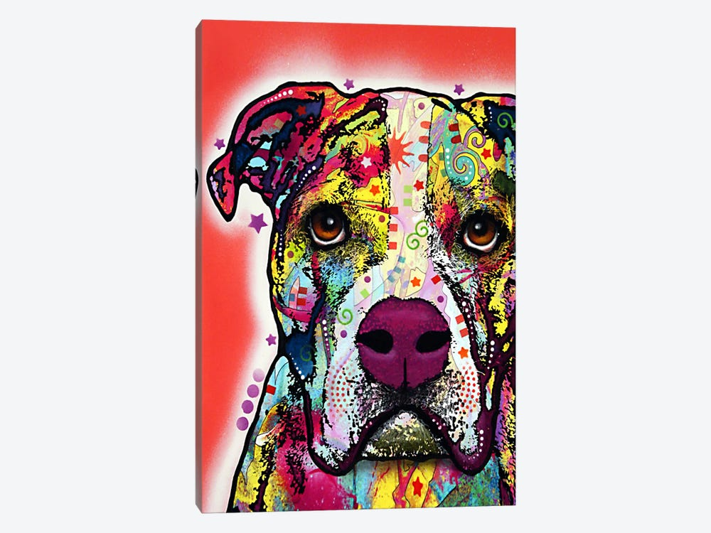 American Bulldog by Dean Russo 1-piece Canvas Print