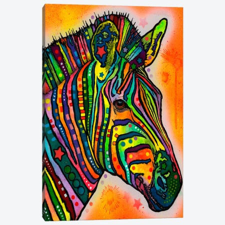 Zebra Canvas Print #13527} by Dean Russo Canvas Artwork