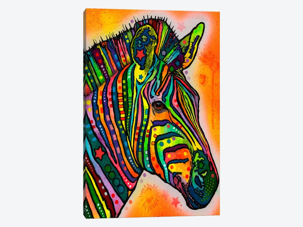 Zebra by Dean Russo 1-piece Canvas Print