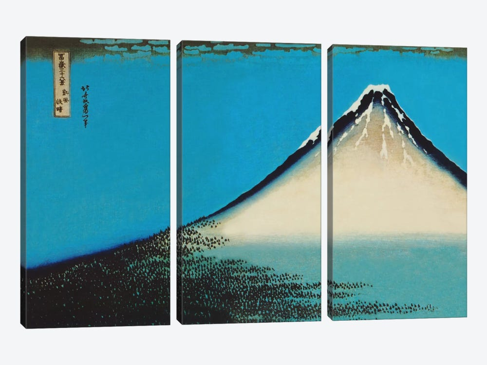 Mount Fuji by Katsushika Hokusai 3-piece Canvas Art Print