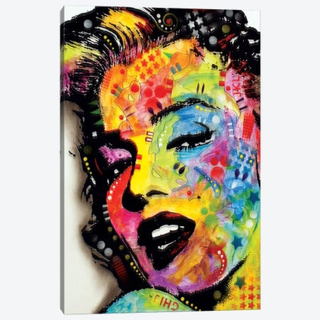 Marilyn Monroe II Canvas Print #13533} by Dean Russo Canvas Artwork